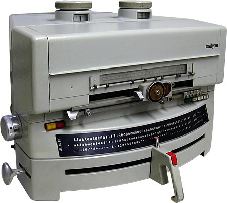 The Diatype was a small cold type machine for setting headlines