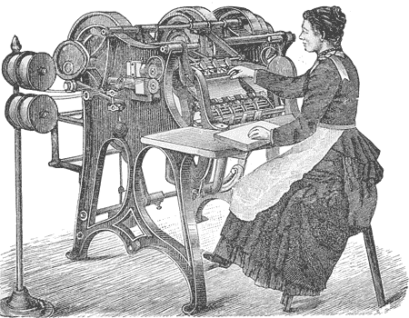 book binding - sewing machine