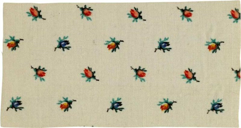 6-color calico print from 1878
