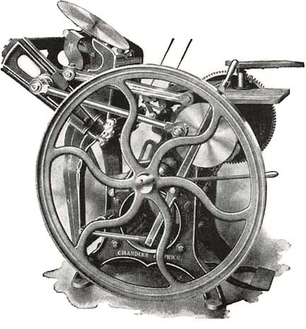 Example of a 'Gordon Jobber' printing press