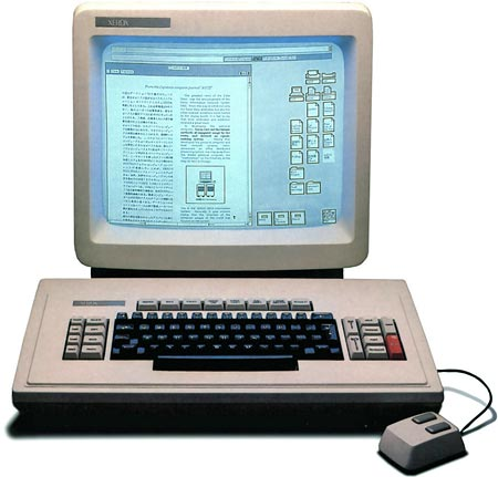 The Xerox Star 8010 keyboard, mouse and WYSIWYG monitor