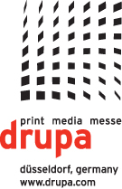 Drupa logo for the graphic arts show of 2012 in Dusseldorf, Germany