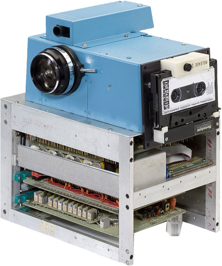 Steve Sasson created this digital camera in 1975