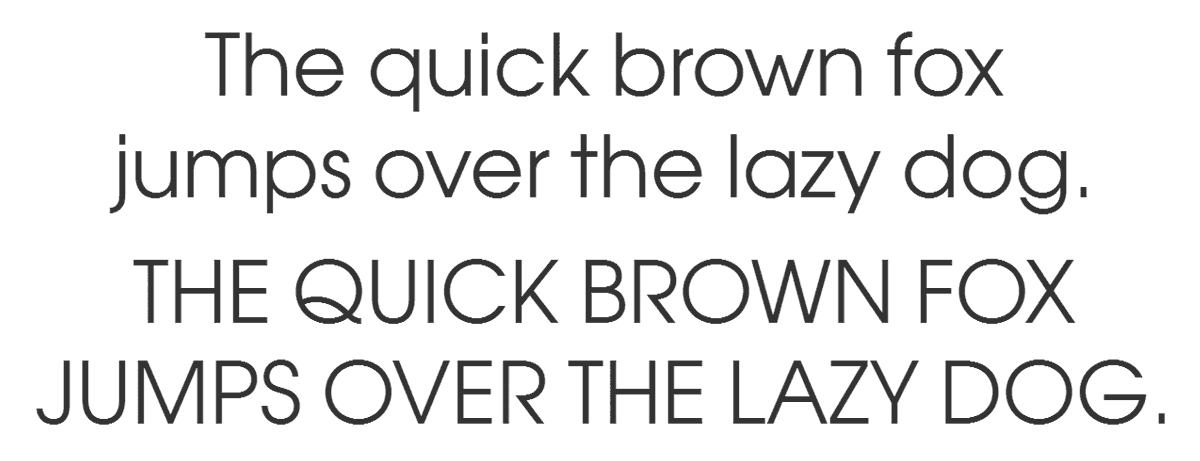 Avant Garde Gothic Book typeface sample