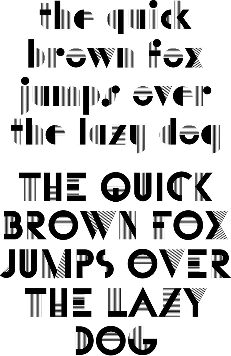 Bifur typeface sample