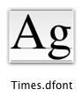 Dfont icon