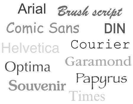 Samples of those unpopular fonts