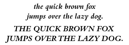 Bembo Bold Italic