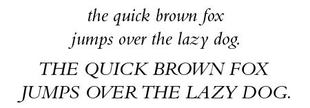 Bembo Italic