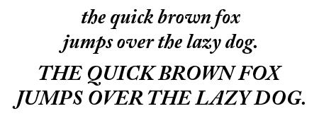 Caslon Pro Bold Italic
