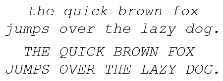 Courier New Italic
