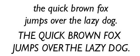 Gill Sans Italic
