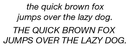 The Helvetica Neue 66 Italic typeface