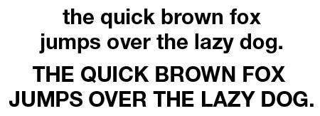 The Helvetica Neue 75 typeface