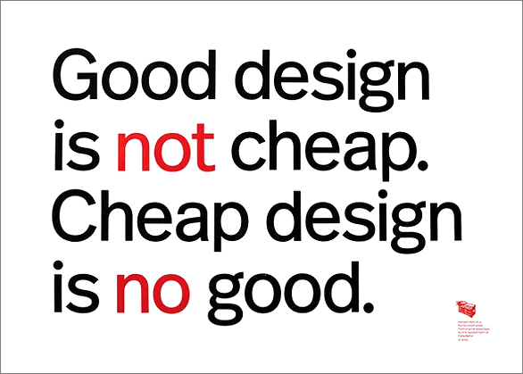 good-design-is-not-cheap-poster