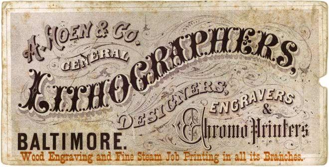 Lithographers A Hoen