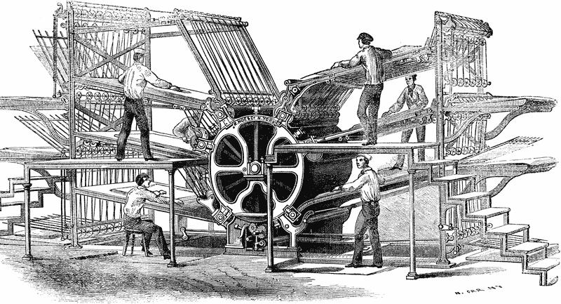 Hoe rotary press