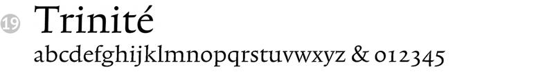important fonts - trinite