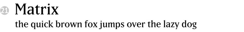 important fonts - matrix