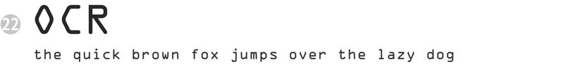 important fonts - ocr