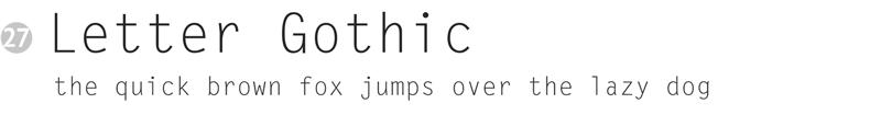 important fonts - letter gothic