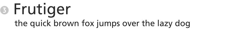 important fonts - frutiger