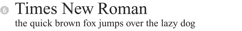 important fonts - times new roman