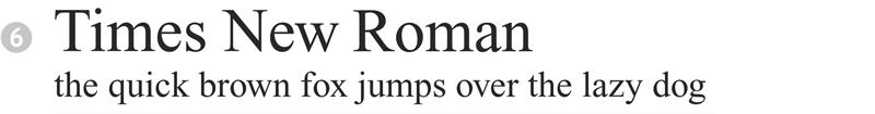 important fonts - times new roman