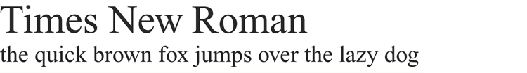 times new roman typeface