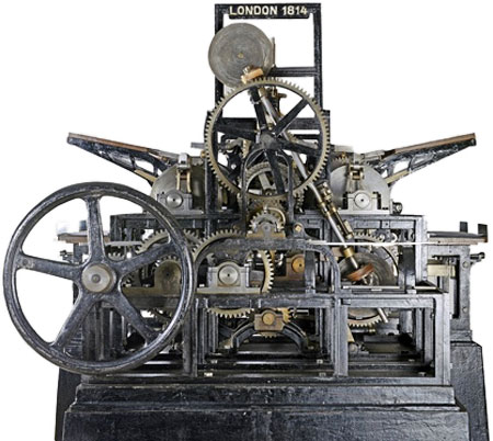 cylinder press used for The Times in 1814