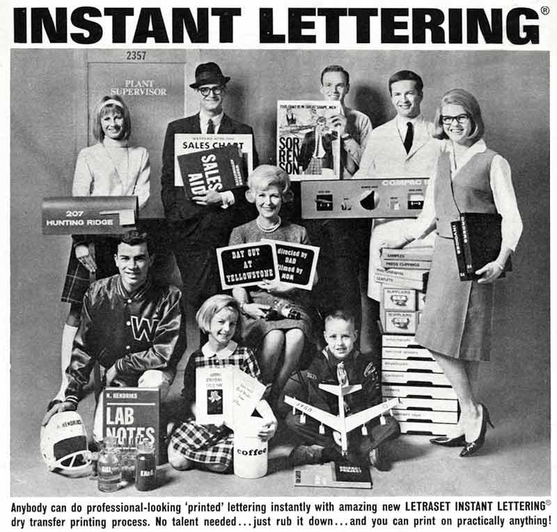 Letraset Instant Lettering