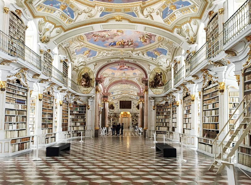 library of abbey in Admont, Austria