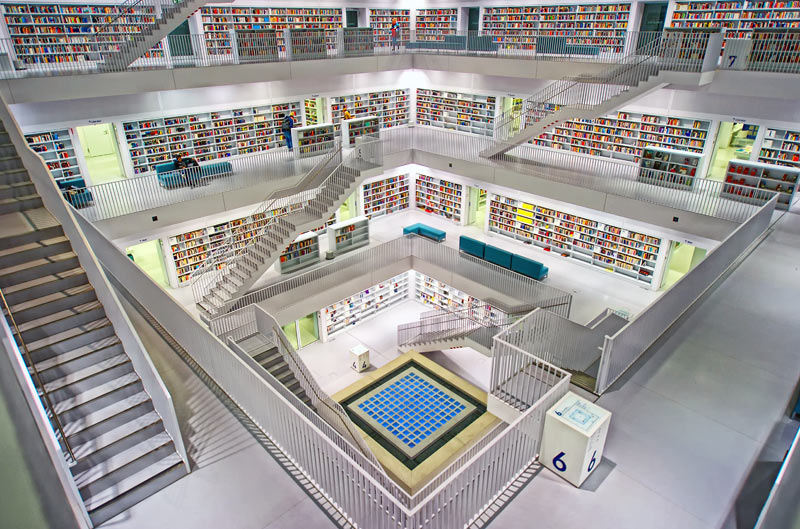 library of Stuttgart, Germany