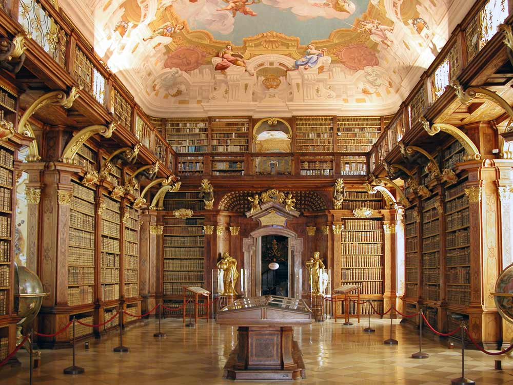 library of the Abbey of Melk in Vienna, Austria