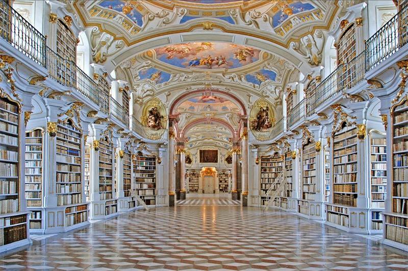 library benedictine monastery of Admont - Austria