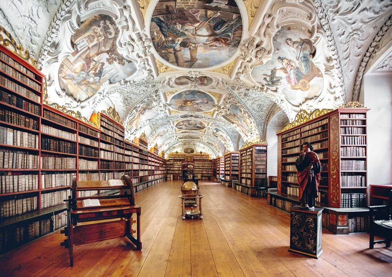 library of the Strahov monastery in Prague