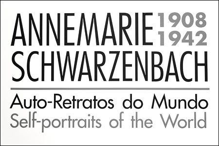 Poster for an exhibition of pictures made by Annemarie Schwarzenbach