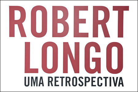 Signage for a retrospective for Robert Longo