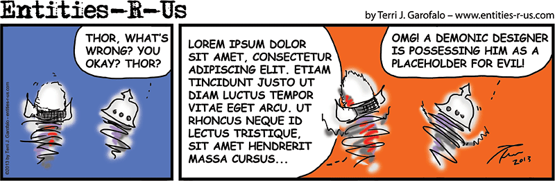 Lorem Ipsum cartoon