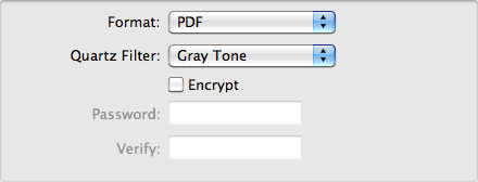PDF conversion to grayscale using OSX