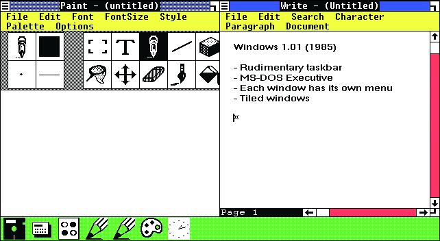 Microsoft Windows 1.0