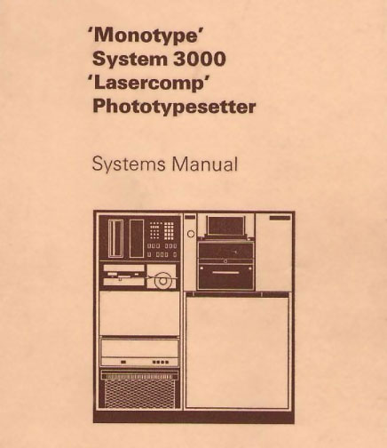 Monotype Lasercomp phototypesetter
