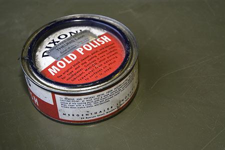 Dixon's mold polish for typesetting machines