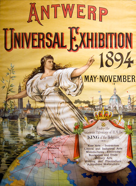 This poster is exhibited at the MAS museum in Antwerp