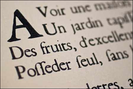 Centuries old typography