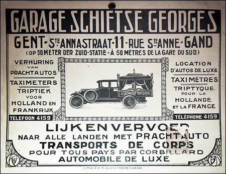 Poster from a garage - on display at the Huis van Alijn