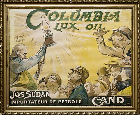 Poster for Columbia oil - on display at the Huis van Alijn - Ghent, Belgium
