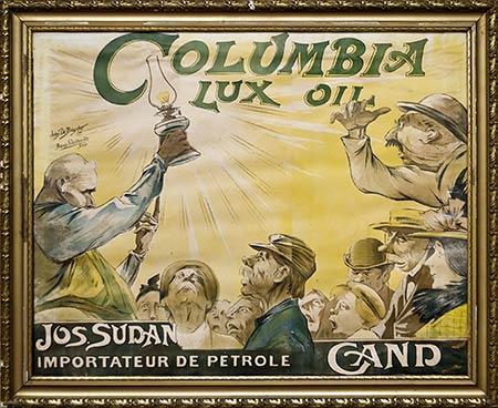 Poster for Columbia oil - on display at the Huis van Alijn - Ghent, Belgium