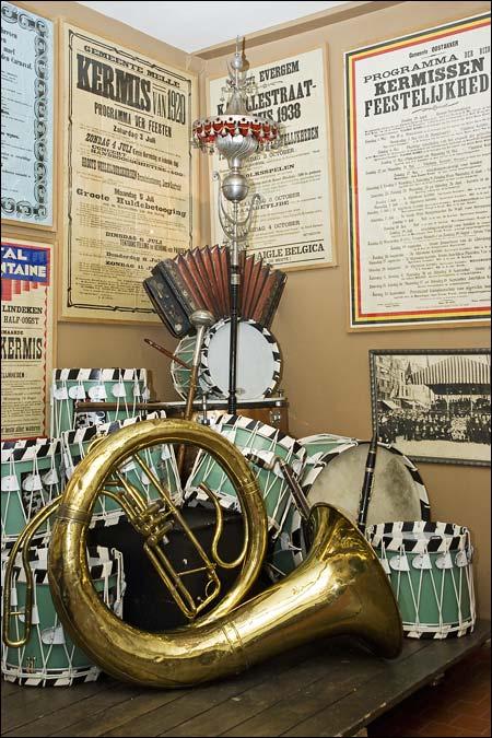 The music corner at the Huis van Alijn - Ghent, Belgium