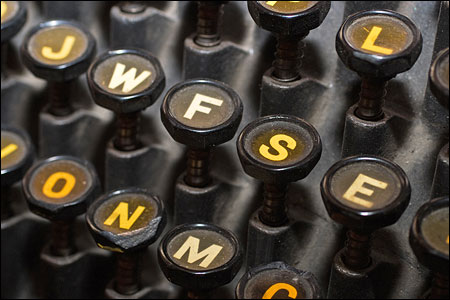 The keyboard of the typesetter